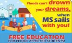 Free Education for Flood Affected Students