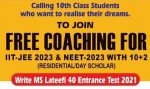 MS offers free IIT-JEE and NEET Coaching